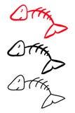 Skelett av fisken. royaltyfri illustrationer