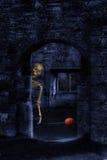 Skelett bei Halloween lizenzfreies stockbild