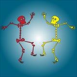 Skelett- dans vektor illustrationer