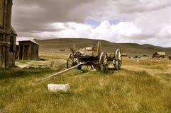 Skelett eines Warenkorbes bei Bodie National Park Stockfotografie