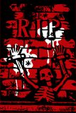 skelett för grungehalloween reva vektor illustrationer