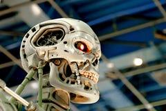 Skelett för slut T-800 Royaltyfria Bilder