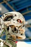 Skelett för slut T-800 Royaltyfri Foto