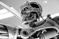 Skelett för slut T-800 Royaltyfria Foton
