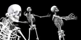 Skelett- grupp 3 Arkivfoton