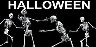 Skelett- grupp Halloween 5 Royaltyfria Bilder