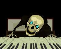 Skelett- pianist Arkivbild