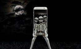 Skelett- Selfie royaltyfri bild