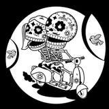 skelett skjorta t Vägar av förälskelse Arkivbild