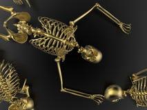 Skelett som lägger på jordningen stock illustrationer