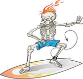 Skelett- surfare Royaltyfria Bilder