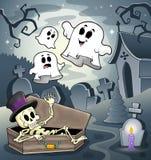 Skelett- temabild 4 Royaltyfri Fotografi