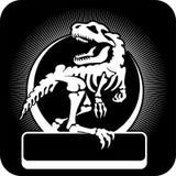 Skelett- vektorillustration för dinosaurie Arkivbilder