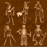Skelette - Ritter Vinyl-betriebsbereite Abbildung Stockfotos