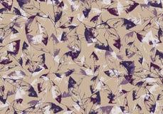Skelette von Blättern auf Beige Hintergrundentwurfsbild lizenzfreies stockbild