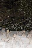 Skeletten in Bootloodsen, de Archeologische Plaats van Herculaneum, Campania, Italië Stock Afbeeldingen