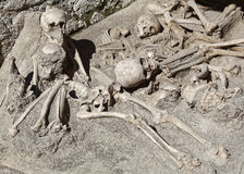 Skeletten in Herculaneum Stock Foto