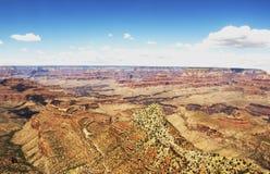 Skelettet från den storslagna siktspunkten - Grand Canyon, södra kant, Arizona, AZ Arkivfoton