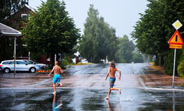 SkellefteÃ¥ μετά από τη βροχή Στοκ Φωτογραφίες