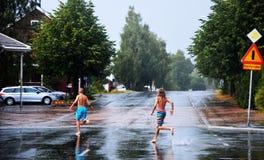 Skellefteå nach Regen stockfotos