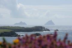 Skellig Islands. A beautiful view of Skellig islands in Ireland Stock Image