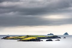 Skellig Islands from the coast of Valentia island Stock Image