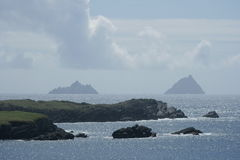 Skellig Islands Scenic. Scenic view of Skellig Island, Iveragh Peninsula, County Kerry, Ireland Royalty Free Stock Image