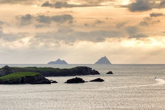 Skellig islands view Royalty Free Stock Photos