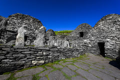 Skellig Michael cemetery Stock Image