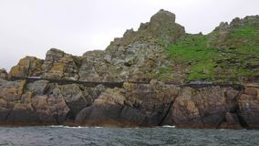 Skellig Michael sławny filmu loacation przy Skelligs - piękna mała wyspa w Irlandia - zdjęcie wideo