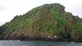 Skellig Michael sławny filmu loacation przy Skelligs - piękna mała wyspa w Irlandia - zbiory wideo