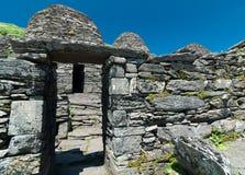 Skellig Michael, UNESCO-Welterbestätte, Kerry, Irland Star Wars die Kraft weckt Szene gefilmt auf dieser Insel stockfotos