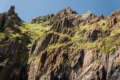 Skellig Michael, UNESCO-Welterbestätte, Kerry, Irland Star Wars die Kraft weckt Szene gefilmt auf dieser Insel stockfoto