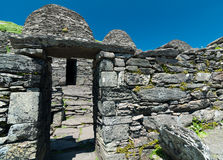 Skellig Michael, UNESCO World Heritage Site, Kerry, Ireland. Star Wars The Force Awakens Scene filmed on this Island. Stock Photos