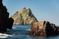 Skellig Michael, UNESCO World Heritage Site, Kerry, Ireland. Star Wars The Force Awakens Scene filmed on this Island. Stock Photo