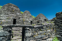 Skellig Michael, UNESCO World Heritage Site, Kerry, Ireland. Star Wars The Force Awakens Scene filmed on this Island. Royalty Free Stock Photos