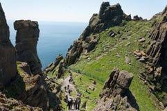Skellig Michael, UNESCO World Heritage Site, Kerry, Ireland. Whe Royalty Free Stock Image