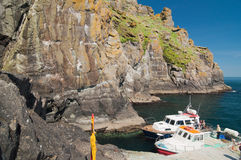 Skellig Michael, UNESCO World Heritage Site, Kerry, Ireland. Whe Royalty Free Stock Photos