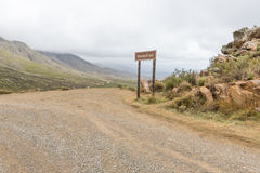 Skelmdraai sly corner on the historic Swartberg Pass Stock Images