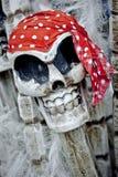 Skelton del pirata, imagen de víspera de Todos los Santos Imágenes de archivo libres de regalías