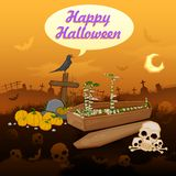 Skelton in Halloween night Royalty Free Stock Photography