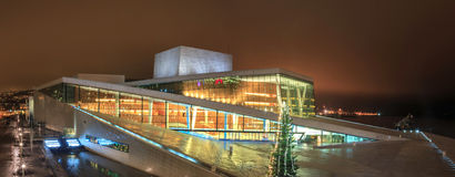 Oslo operahus royaltyfria bilder