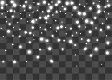 Sken för ljus för snöflingavintergnistrande Arkivfoto
