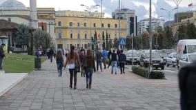 Skenderbeg广场是地拉纳主要广场  影视素材