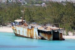 Skepp aground Arkivbilder
