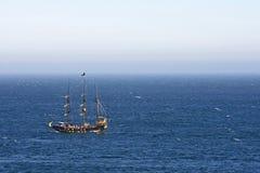 Skepp av kusten av Mexico Royaltyfri Bild