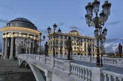 Skepp för galär för Skopje - Makedonien flod vardar royaltyfria foton