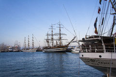 Skepp för italiensk marin, Amerigo Vespucci Fotografering för Bildbyråer