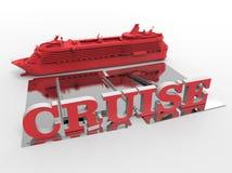 skepp för kryssning 3D vektor illustrationer