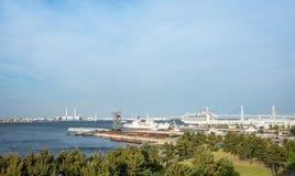 Skepp för Yokohama fjärdkrig och passagerareskepp royaltyfria bilder